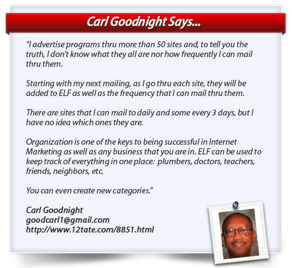 Carl Goodnight testimonial